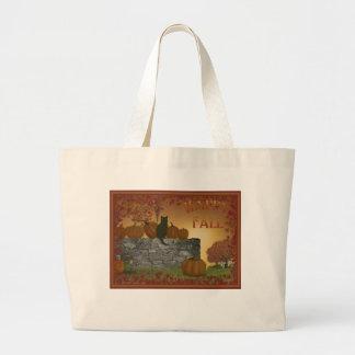 幸せな秋のバッグ ラージトートバッグ
