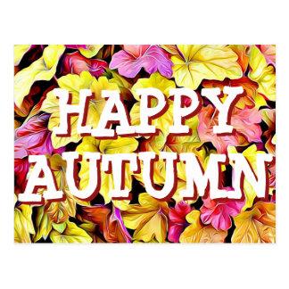 幸せな秋の紅葉の郵便はがき ポストカード