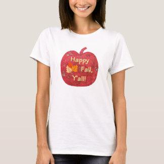 幸せな秋カボチャティー Tシャツ