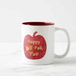 幸せな秋カボチャマグ ツートーンマグカップ