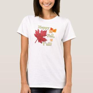 幸せな秋ティーを残します Tシャツ