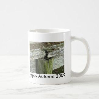 幸せな秋2009のマグ コーヒーマグカップ