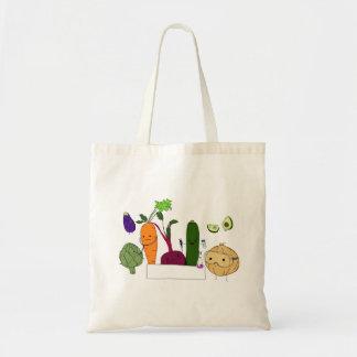 幸せな科学者の野菜-旗無し トートバッグ