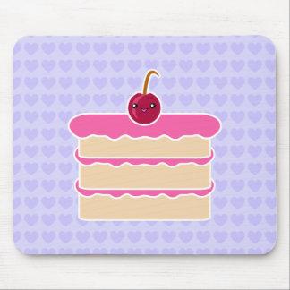 幸せな積み重ねのかわいいのケーキのマウスパッド マウスパッド