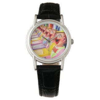 幸せな笑うピエロの顔、 腕時計