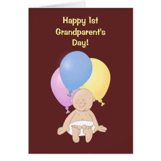 幸せな第1祖父母の日! カード