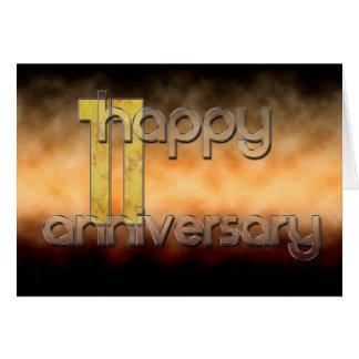 幸せな第11記念日(結婚記念日) グリーティングカード