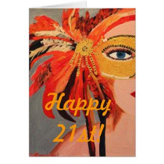 幸せな第21! ノートカード