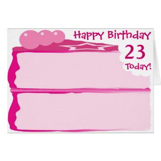 幸せな第23誕生日 カード