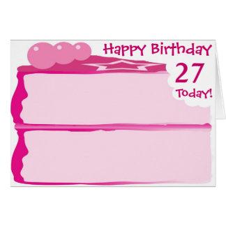 幸せな第27誕生日 カード