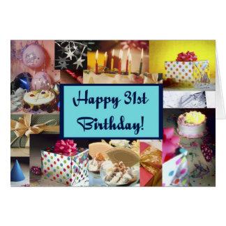 幸せな第31誕生日 カード