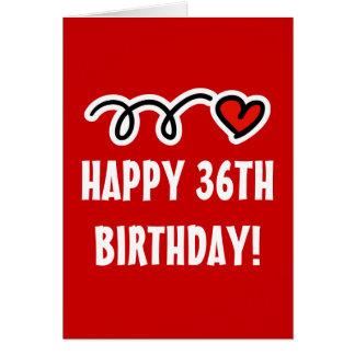 幸せな第36誕生日-挨拶状 カード