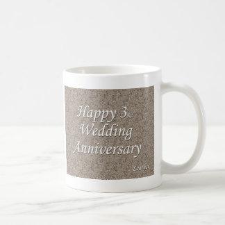 幸せな第3。 結婚記念日 コーヒーマグカップ