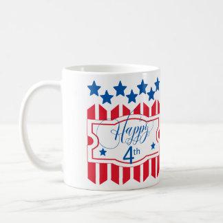 幸せな第4星条旗ID138 コーヒーマグカップ