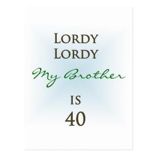 幸せな第40誕生日 ポストカード