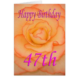 幸せな第47誕生日の花 カード