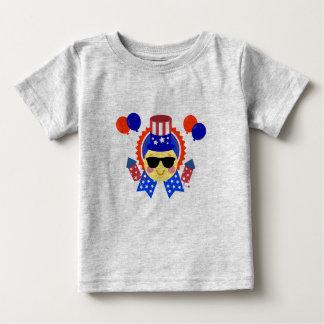 幸せな第4 ベビーTシャツ