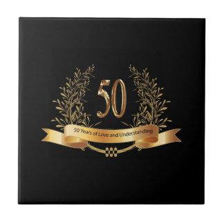 幸せな第50結婚記念日のギフト タイル