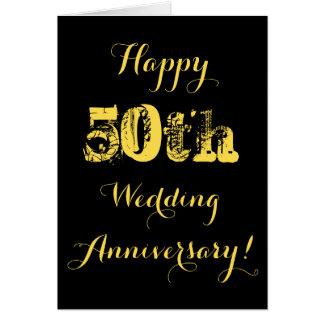 幸せな第50結婚記念日カード カード