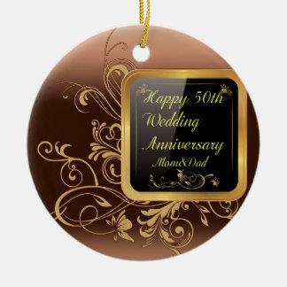 幸せな第50結婚記念日数々のなプロダクトsele セラミックオーナメント