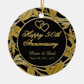 幸せな第50記念日の金葉DBLは味方しました セラミックオーナメント