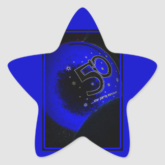幸せな第50誕生日のステッカー 星シール