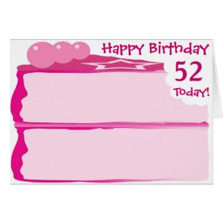 幸せな第52誕生日 カード