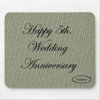 幸せな第5。 結婚記念日 マウスパッド