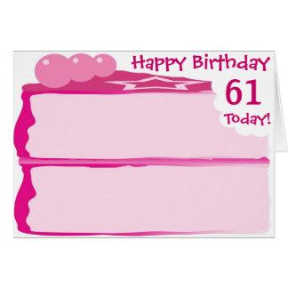 幸せな第61誕生日 カード