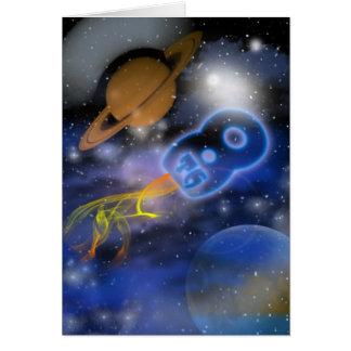 幸せな第8誕生日のPlantetの男の子、Outerspace カード
