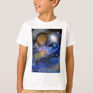 幸せな第8誕生日のPlantetの男の子、Outerspace Tシャツ