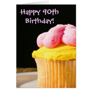 幸せな第90誕生日のマフィン カード