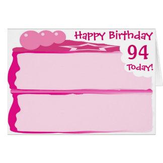幸せな第94誕生日 カード