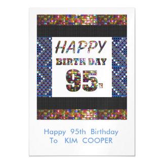 幸せな第95誕生日の変更か削除の文字のmsg 95 マグネットカード