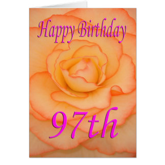 幸せな第97誕生日の花 カード
