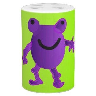 幸せな紫色のカエル-浴室セット バスセット