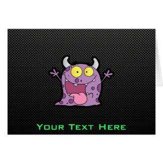幸せな紫色モンスター; お洒落 カード