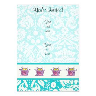 幸せな紫色モンスター; かわいい カード