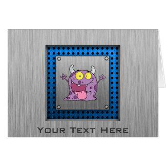 幸せな紫色モンスター; 金属一見 カード