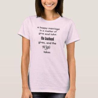 幸せな結婚のおもしろいなワイシャツ Tシャツ