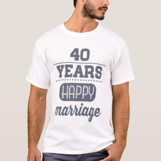 幸せな結婚40年の Tシャツ
