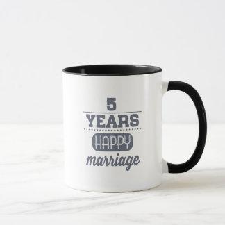 幸せな結婚5年の マグカップ