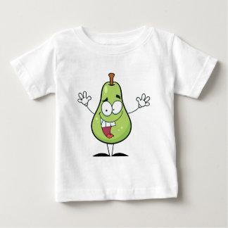 幸せな緑のナシのマンガのキャラクタ ベビーTシャツ