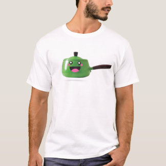 幸せな緑のポット Tシャツ