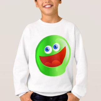 幸せな緑のSmilie スウェットシャツ