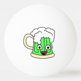 幸せな緑ビール 卓球 玉