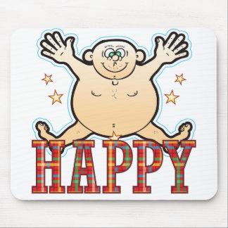 幸せな脂肪質の人 マウスパッド