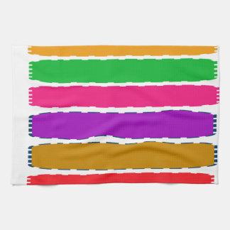 幸せな色のセラピーエネルギーパターン キッチンタオル