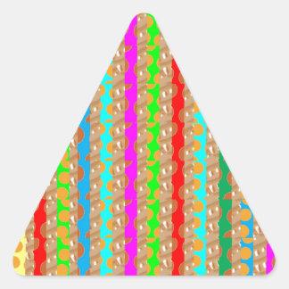幸せな色の幸福は共有と高めます 三角形シール