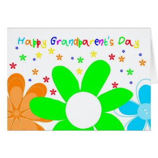 幸せな花の祖父母の日の挨拶状 カード